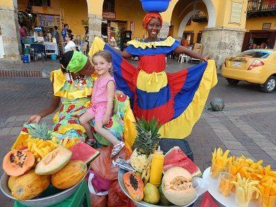 Colombia met de kinderen